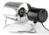 bake nuts - Household small coffee bean roaster stainless steel baking machine bake beans nuts seeds roasted peanuts