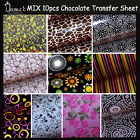 bag molds - Mix Chocolate Transfer Sheet Chocolate Mold Hot Design Chocolate Mix Molds Chocolate Printed Sheets BAG