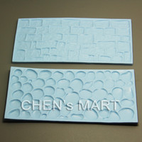 baking stones - Christmas set Cobblestone and Stone Wall Impression Mat Mould Cake Decorating baking Cake Decorator Bake Tool