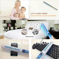 Wholesale Portable UV Sanitizer Hand Wand Ultra Violet Light Kill Bacteria Germ Sterilizer UVC Air Disinfector Disinfection UV C Lamp Tube