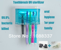 Wholesale New design UV toothbrushes sterilizer for toothbrush sterilization family oral hygiene Dental Hygiene UV toothbrush sanitizer