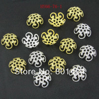 filigree findings - Flower Filigree Bead Cap End mm Gold Silver For Jewelry Making Craft DIY jewelry copper finding