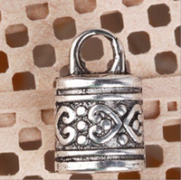 Cheap Wholesale-60pcs lot Tibetan Silver End Bead Caps For 7mm Leather Cord CA508