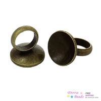 antique vials - Copper Cap Connector For Glass Bubble Cover Pendants With Loop Vials Diy Antique Bronze mm x mm B35714