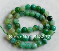 Mayoreo-Envio gratis Moda Facetadas de 10 mm de Luz Verde Ágata de Fuego Onyx Jasper Suelta Perlas 15quot; perlas para la fabricación de joyas YE406