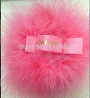 Wholesale Real Feather Body Powder Puff Turkey Feather Plush Puff Ostrich Feather Puff