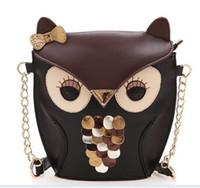bag fox men - New The new ultra cute mini packet Meng owl small fox retro hit color handbag bag Shoulder Messenger Bag