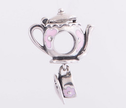 New Teapot with cup enamel charms fits sterling silver 925 love bracelet charms Suitable for Pandora Style Charm Bracelets
