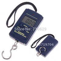 Cheap Wholesale-free shipping 5pcs lot 10g-40Kg Digital Hanging Luggage Fishing Weight Scale