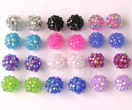 Wholesale Gift mm mix color PON Resin Shamballa Beads Basketball Wives DIY Finding for jewelry bracelet