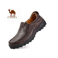 Cheap Wholesale-Free Shipping 2015 Classic Men Camel Lazy Loafers Leather Shoes Men's Camel Casual Shoes Oxford Genuine Leather Shoes for men