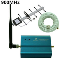 Wholesale MHz GSM Repeater Booster Mobile Signal Receiver with Indoor Outdoor Antenna Cable