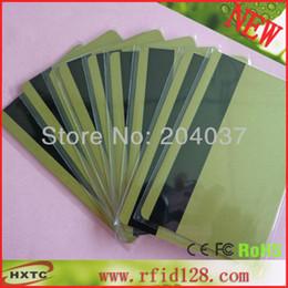 Wholesale-Free Shipping 50PCS Lot Magnetic Stripe Gold Color PVC  Plastic Card (Hi-Co 2750, 3000 ,4000 OE)