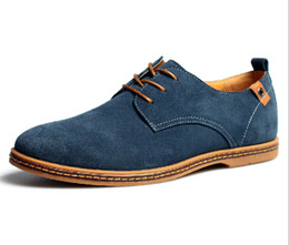 Wholesale-men sneakers Suede genuine leather oxfords california casual shoes men shoes 38-46 Big Size European style Free shipping