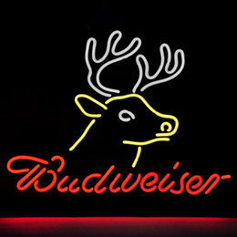 Wholesale Revolutionary Neon Gifts Budweiser Busch Deer Neon Beer Signs Neon Signs Pub Bars Neon Light19 quot x15 quot Available multiple