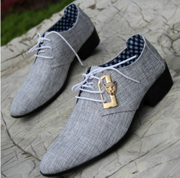 Wholesale-Fashion For Men Dress Shoes Male Business Shoes Wedding Shoes Autumn lace-up Cloth cover men 's pointed Leather Shoes N25