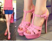 nude pumps - Brand name women cm platform sandals criss cross strappy high heels nude pumps