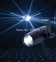 Wholesale W LED Pinspot Light RED GREEN BLUE WHITE LED Pinspot r for Disco Party KTV Stage Light LED Rain Effect Light