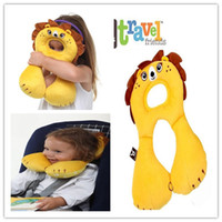 baby wedge pillows - New Arrival Benbat Baby Headrest Kawaii Animals Design Kids Pillow Neck Protector Travel Toys