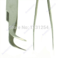 Wholesale Z101 quot x Nail Art Stainless Steel Curved Straight Tweezers