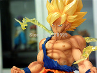 Wholesale cm quot PVC dragonball z figure Dragon Ball Z Ban Dai Super Saiyan Goku Son Gokou Boxed Action Figure