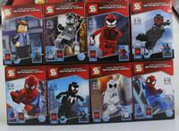 american plastic bricks - The Spiderman Action Figures Toy set American Hero The Avengers Toys Super Hero DIY Building Block Bricks Marvel Figures