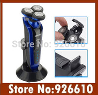 best head shave - Washable Rechargeable d Head Electric Shaver Men Shaving Razor with Holder best electrical razor blade