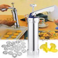 aluminium alloy mold - Aluminium Alloy Designs Cookies Biscuit Mold Extruder Press Machine Silver