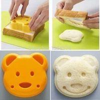 Wholesale Hot DIY Bear Sandwich Mold Cartoon Bear Toast Bread Stamp Mold Cutter Tool Kit e31mb