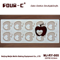 apple shaped cakes - Apple shape silicone chocolate candy molds cake decoration mould Ry