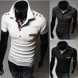 Wholesale-Brand Short Sleeve Cotton Pocket Patch  Shirt Cheap Fitness Male Clothing New Fashion Plus Size Men s Shirts C21601T02