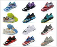 Cheap Wholesale-New Arrival 21 colors kd 7 Men Shoes High Quality Durant kd men sneakers Kevin Durant VII Shoes Size us7-12 eur40-46