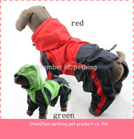 Wholesale piece Dog Raincoat dog clothing waterproof dog coat XS XL