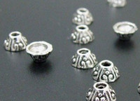 bali silver clasps - Tibetan Silver Bali Style Bead Caps