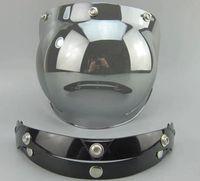 Wholesale Motorcycle Helmet Vintage helmet glass Helmet Bubble Visor Jet helmet visor