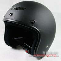Al por mayor-venta al por mayor Nueva Negro completo de la motocicleta Scooter Moto de la vendimia 3/4 casco burbuja cara abierta, tamaño libre