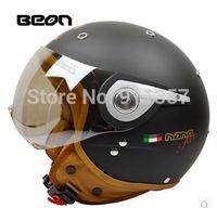 Precio de Cascos de moto de época-De época en el terreno de moto hombres Wholesale-2015 feminino casco de moto vespa casco capacete Beon Capacetes cara abierta motociclistas