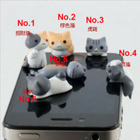 Cheap Wholesale-20Z90Z Min. order $10 (mix order) Free Shipping Lovely Cartoon Earphone Cat Tail Dust Plug for Cell Phones