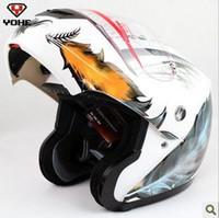 full face helmet - Nice Leather Design racing helmet flip up helmet motorcycle full face helmet YH motocross helmet