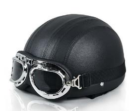 Cascos de moto de época en Línea-casco de la vendimia gafas de cruz vespa de la moto de la motocicleta + Wholesale-oído de la cubierta Invierno Verano envío libre