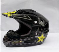 Wholesale Hot Rockstar Motocross OFF ROAD helmet classic design DOT certification