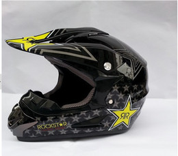 Wholesale Hot Rockstar Motocross OFF ROAD helmet classic design DOT certification