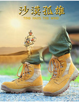 men military boots fashion - fashion Men Military boot breathable desert boot high top walking shoe short jungle boot genuine leather boot