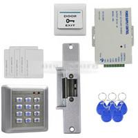 rfid reader - Waterproof RFID Reader Access Control Full Kit Set Electric Strike Door Lock Power Supply Brand New