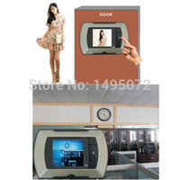 Venta por mayor-2.4quot; Visual LCD Monitor puerta mirilla Peep agujero visor inalámbrico cámara Video