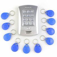 Wholesale KHz Door RFID Keypad Proximity Reader Access Controller System Kit Free Key Fobs Brand NEW V2000 C