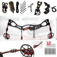 compound - 2015 Top Fashion Direct Selling Freeshipping Hunting Bow arrow Set M122 Caesar Compound Bow bow And Archery Set compound