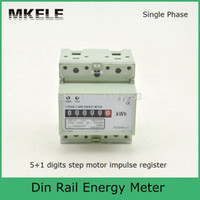 Wholesale digits step motor impulse register MK LEM011AG single phase din rail energy meter
