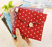 Cheap Wholesale-Min. order is $ 7 (mix order) PM082 little girls cotton sanitary napkins cloth storage bag wooden buckle bags