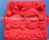 baking pottery - retail Merry Christmas clay pottery mould handmade soap silicone cake mold baking molds